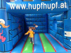 Hüpfburg Schlumpfhausen - HUPFHUPF Luftburgverleih