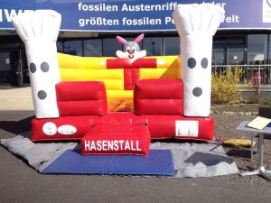 Hüpfburg Hasenstall - HUPFHUPF Luftburgverleih