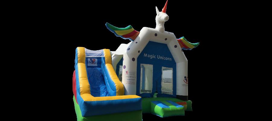 Hüpfburg Magic Unicorn - HUPFHUPF Luftburgverleih